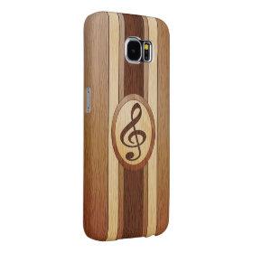 Stylish Faux Wood Treble Clef Inlay