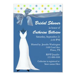 Stylish Federal Blue Bridal Shower Invitation