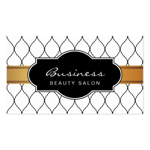 Stylish Fishnet Lace Beauty Salon Appointment Business Card Templates