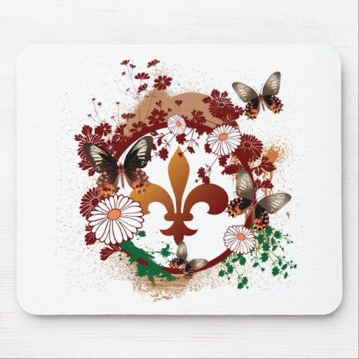 Stylish Fleur Mouse Pads