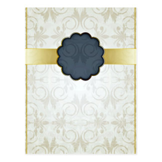 Stylish floral art valentine gift post cards