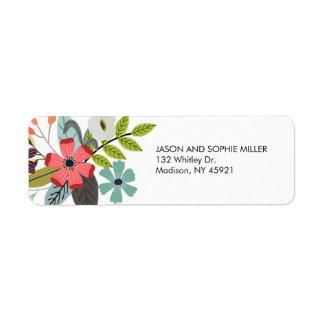 Stylish Floral Bouquet Return Address Label
