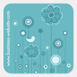 Stylish Floral Business Sticker