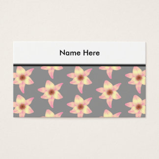 Stylish Floral Design. Lily Pattern. Business Card