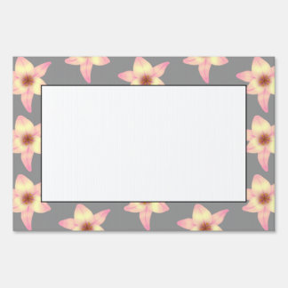 Stylish Floral Design Lily Pattern Lawn Signs