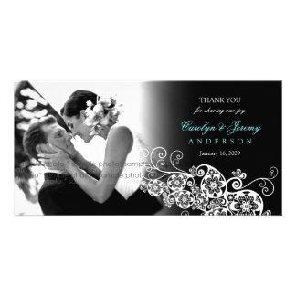 Stylish Floral Paisley Boho Chic Wedding Thank You Card