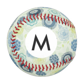 Stylish floral pattern with cute flowers baseball