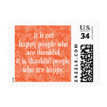Stylish Floral Typographical Thanksgiving Message. Postage at Zazzle