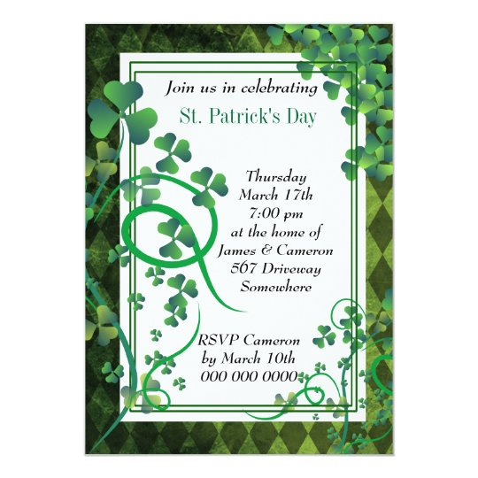 Stylish florish Clover Invitation