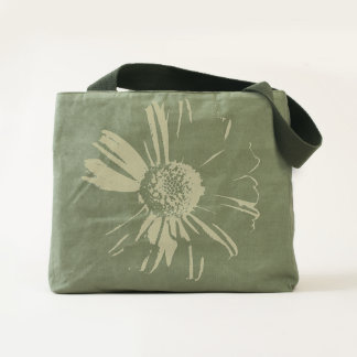 Stylish Flower Canvas Utility Tote Bag