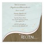 Stylish flowers girl's dance recital invitation