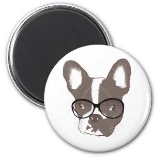 Stylish french bulldog 2 inch round magnet