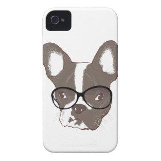 Stylish french bulldog iPhone 4 Case-Mate cases