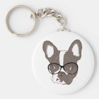 Stylish french bulldog keychain