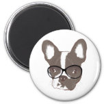 Stylish french bulldog magnet