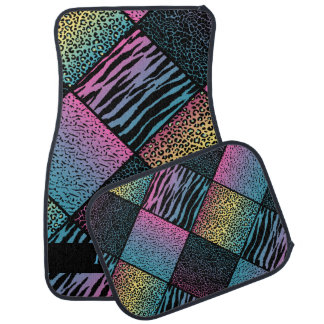 Stylish Fun Animal Patterns | Multicolored Car Mat
