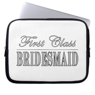 Stylish Fun Bridesmaids Gifts : First Class Brides Laptop Computer Sleeve
