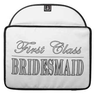 Stylish Fun Bridesmaids Gifts : First Class Brides MacBook Pro Sleeves