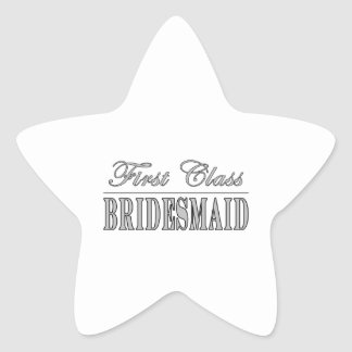 Stylish Fun Bridesmaids Gifts : First Class Brides Star Sticker