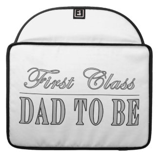 Stylish Fun Dads to Be Gifts First Class Dad to Be MacBook Pro Sleeves