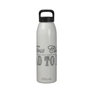 Stylish Fun Dads to Be Gifts First Class Dad to Be Reusable Water Bottle