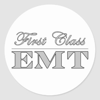 Stylish Fun EMTs : First Class EMT Stickers