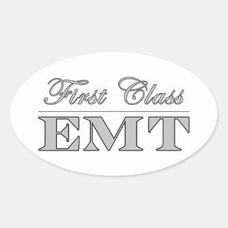 Stylish Fun EMTs : First Class EMT Oval Sticker