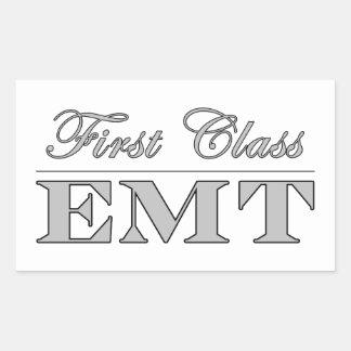 Stylish Fun EMTs : First Class EMT Rectangle Sticker