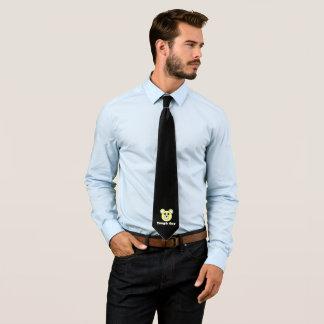 Stylish Funky Tough Guy Bear Face Tie