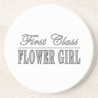 Stylish Funny Gifts : First Class Flower Girl Beverage Coasters