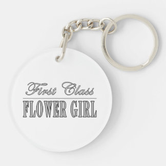 Stylish Funny Gifts : First Class Flower Girl Acrylic Keychain