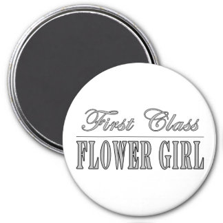 Stylish Funny Gifts : First Class Flower Girl Fridge Magnet