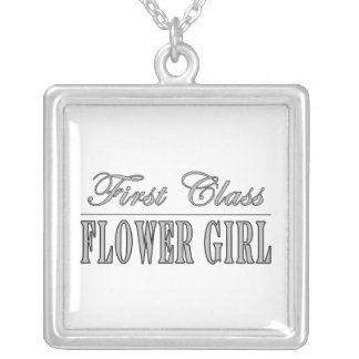 Stylish Funny Gifts : First Class Flower Girl Personalized Necklace
