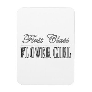 Stylish Funny Gifts : First Class Flower Girl Vinyl Magnet