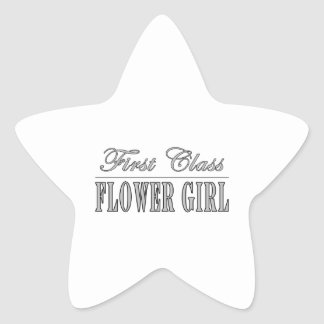 Stylish Funny Gifts : First Class Flower Girl Star Stickers