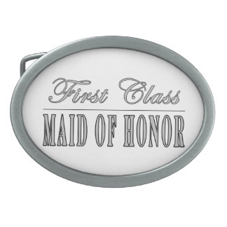 Stylish Funny Gifts : First Class Maid of Honor Oval Belt Buckle