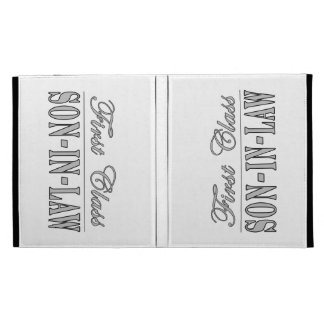 Stylish Funny Gifts : First Class Son in Law iPad Folio Covers