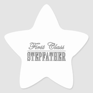 Stylish Funny Gifts : First Class Stepfather Star Sticker
