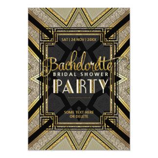 Stylish Gatsby Girls Bachelorette Party Invitation