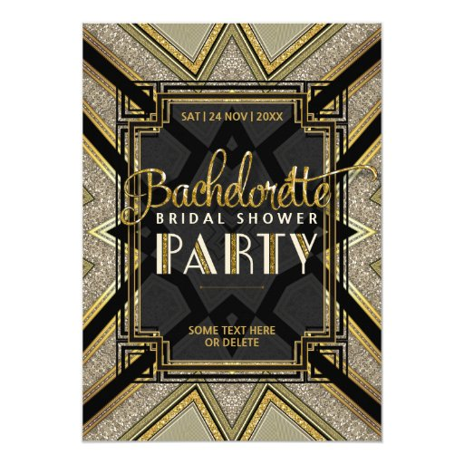 Stylish Gatsby Girls Bachelorette Party Invitation