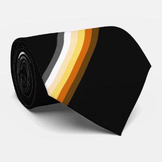 Stylish Gay Bear Pride Flag Black Neck Tie