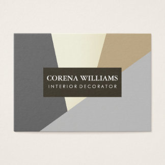 Stylish Geometric Natural Color Blocks Business Card