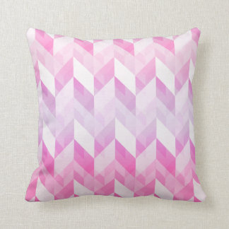 Stylish Geometric Ombre Pink Pattern Throw Pillow