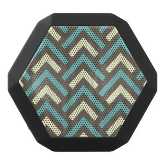Stylish Geometric Triangles Retro Stripes Pattern Black Boombot Rex Bluetooth Speaker