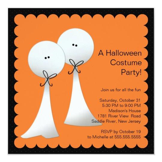 Stylish Ghost Halloween Party Invitation