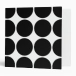 Stylish Gifts for Girls Black Polka Dots on White Binder