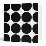 Stylish Gifts for Girls Black Polka Dots on White 3 Ring Binder