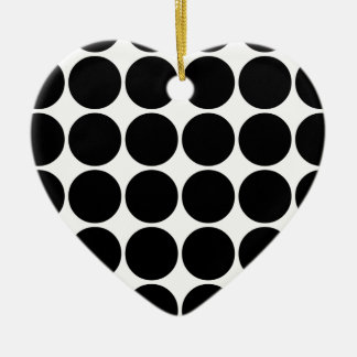 Stylish Gifts for Girls Black Polka Dots on White Ceramic Ornament