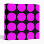 Stylish Gifts for Girls : Pink Polka Dots on Black Binders