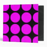 Stylish Gifts for Girls : Pink Polka Dots on Black Vinyl Binders